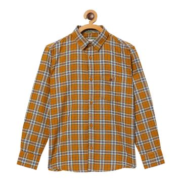 Crimsoune Club | Crimsoune Club Boy's Checked Mustard Shirt