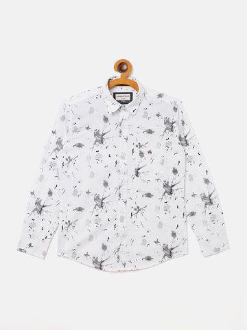 Crimsoune Club | Crimsoune Club Boy's Printed White Shirt