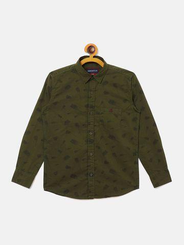 Crimsoune Club | Crimsoune Club Boy's Printed Olive Shirt