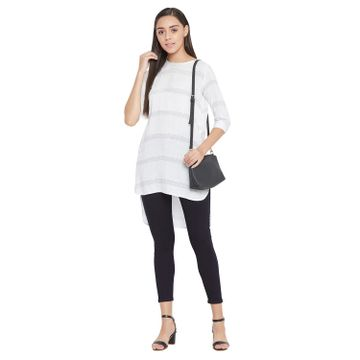 Crimsoune Club | Crimsoune Club Women's White Checked Kurta