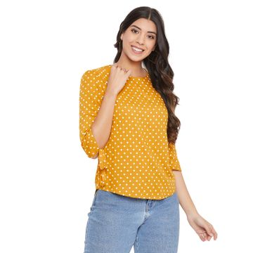 Crimsoune Club | Crimsoune Club Women's yellow Printed Top
