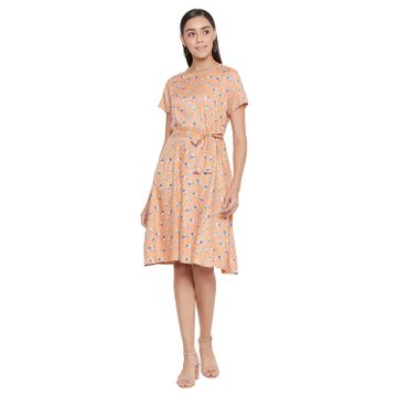 Crimsoune Club | Crimsoune Club Women's Orange Printed Dress