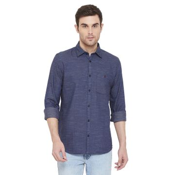 Crimsoune Club | Crimsoune Club Men's Navy Blue Striped Shirt