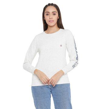 Crimsoune Club | Crimsoune Club Women's White Solid Sweat Shirt