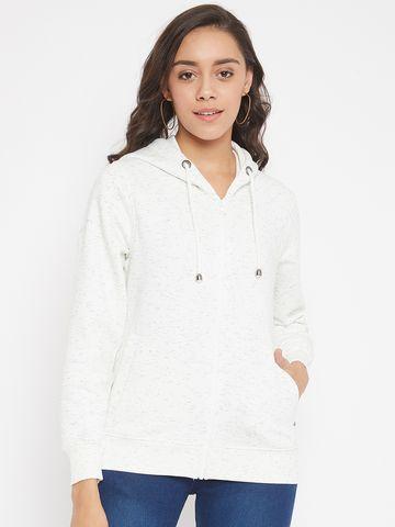 Crimsoune Club | Crimsoune Club Womens Printed White Sweat Shirt
