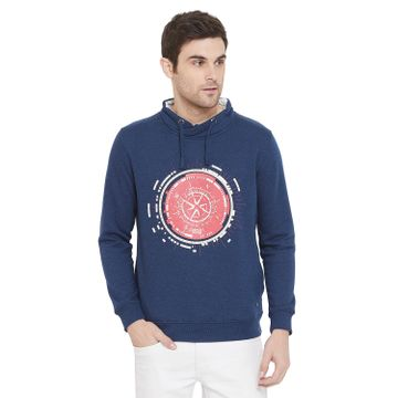 Crimsoune Club | Crimsoune Club Men's Blue Graphic Sweat Shirt