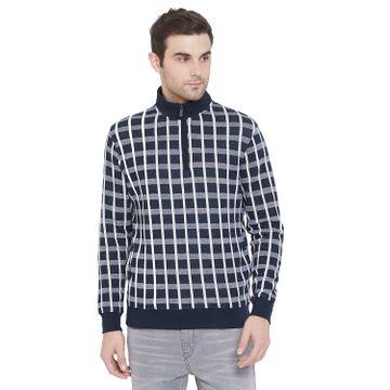 Crimsoune Club | Crimsoune Club Mens Checked Mock collar Sweat Shirt