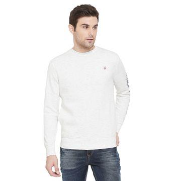 Crimsoune Club | Crimsoune Club Men's White Solid Sweat Shirt