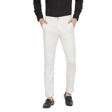Crimsoune Club   Crimsoune Club Men's Off White Solid Trouser