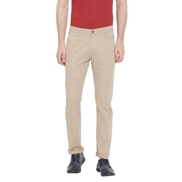 Crimsoune Club | Crimsoune Club Men's Khaki Checked Trouser