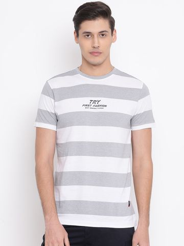 Crimsoune Club | Crimsoune Club Striped Grey Men's T-Shirt