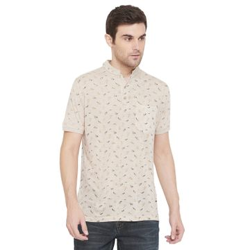 Crimsoune Club | Crimsoune Club Men's Beige Printed T-shirt