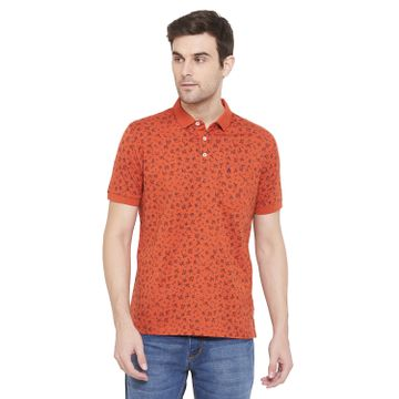 Crimsoune Club | Crimsoune Club Men's Orange Printed T-shirt
