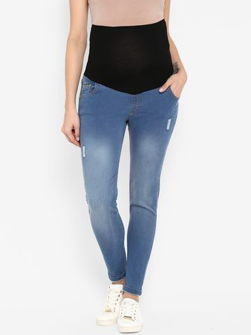 Mothercare | Women Maternity Ripped Jeans - Blue