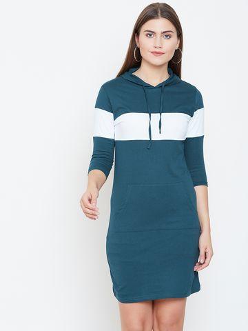 Jhankhi | Green Colourblocked Shift Dress