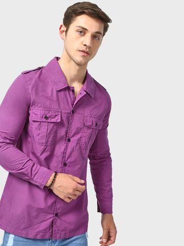 Blue Saint |  Blue Saint Men's Purple  Regular Fit Jackets