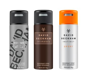 David Beckham | Instinct Sport and Intimately and Homme Deo Combo Set of 3