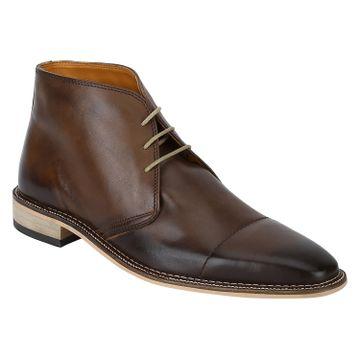 DEL MONDO | Del Mondo Genuine Leather TAN Colour Chukka lace up Boots for Mens