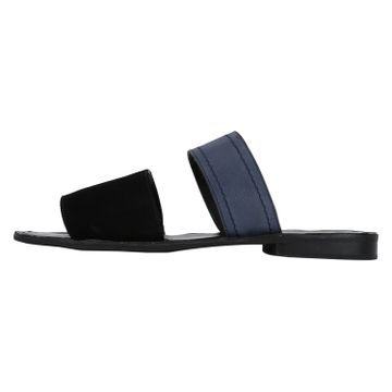 DEL MONDO | Del Mondo Genuine Leather Black / Blue Colour Mens Sandals