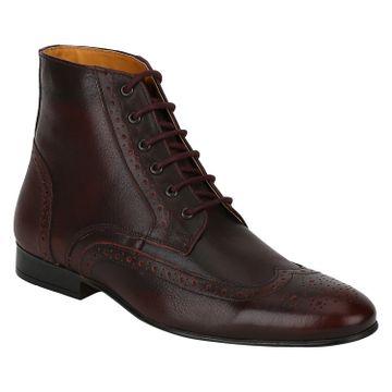 DEL MONDO | Del Mondo Genuine Leather BORDO Colour Oxford lace up Boots for Mens