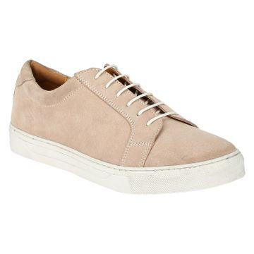 DEL MONDO | Del Mondo Genuine Leather Pale Pink Colour Casuals Sneaker Laceup Shoe for Mens