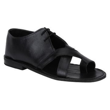 DEL MONDO | Del Mondo Genuine Leather Black Colour Mens Sandals