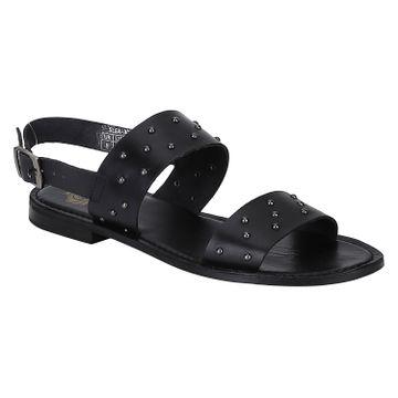 DEL MONDO | Del Mondo Genuine Leather Black Colour Buckle Strap Mens Sandals