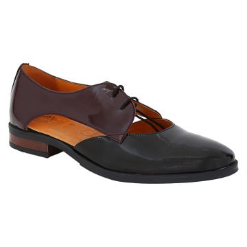 DEL MONDO   Del Mondo Genuine Leather Black / Burgundy Colour Laceup Mens Sandals