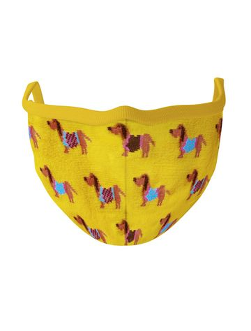 Soxytoes | Soxytoes Yellow Stylish Protective Super Safe Washable Knitted Cotton Mouth Cover Face Mask