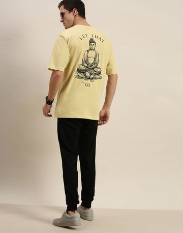 Difference of Opinion | Difference of Opinion Yellow Graphic Oversized T-Shirt
