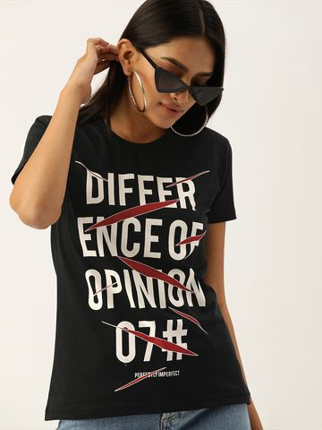 Difference of Opinion | Difference of Opinion TypoPrinted Printed T-shirt