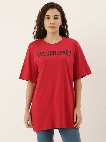 Dillinger   Dillinger Women's Printed Oversized T-shirt