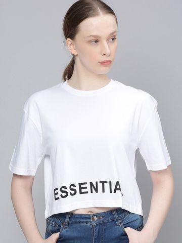 Dillinger | Dillinger Women Boxy Crop Printed T-Shirt