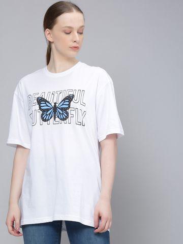Dillinger | Dillinger Women Oversized Printed T-Shirt