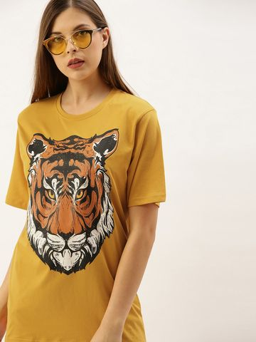 Dillinger | Dillinger Women's Graphic Printed Oversized T-shirt