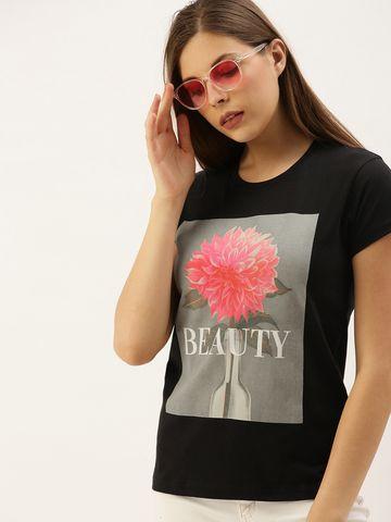Dillinger   Dillinger Women's Typography Printed T-shirt