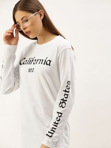 Dillinger | Dillinger Women's Full Sleeve Printed Oversize T-shirt
