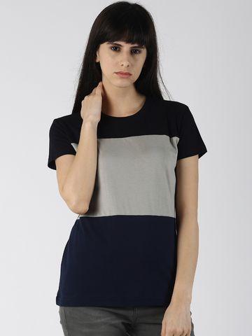 Dillinger   Dillinger Women's Solid Color-Block T-shirt