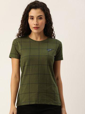 Dillinger | Dillinger Women's Checks printed T-shirt