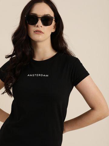 Dillinger | Dillinger Women's Typographic Black T-Shirt