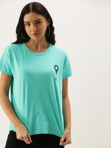 Dillinger | Dillinger Women's Green Typographic T-Shirt