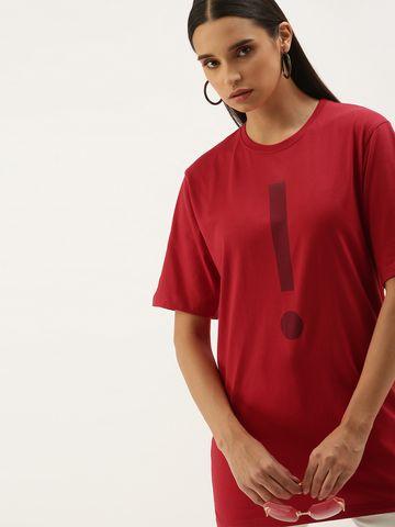 Dillinger | Dillinger Women's Red Typographic T-Shirt