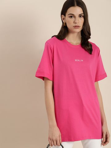 Dillinger | Dillinger Women's Typographic Pink T-Shirt