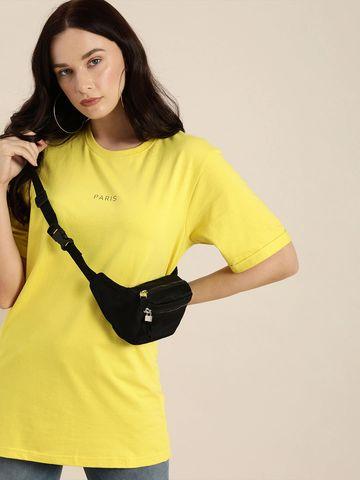 Dillinger | Dillinger Women's Typographic Yellow T-Shirt
