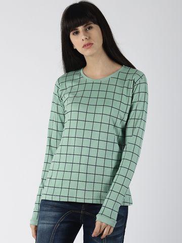 Dillinger | Dillinger Women's Checkered Printed T-shirt