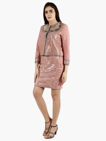 DIWAAH   Diwaah Peach Party Embellished Dress