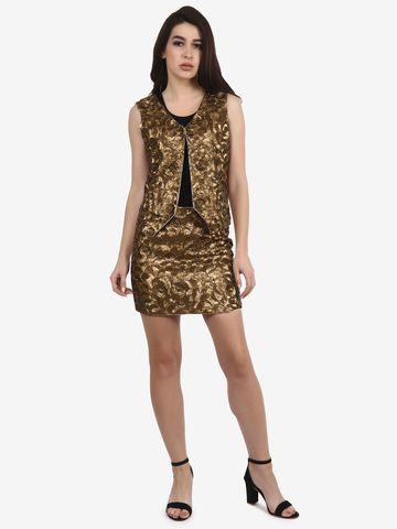 DIWAAH | Diwaah Gold Party Embellished Dress