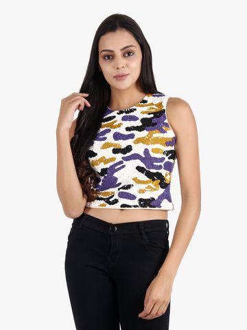 DIWAAH   Diwaah Multi Color Embellished Top