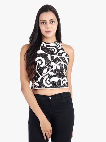 DIWAAH   Diwaah Black Color Embellished Top