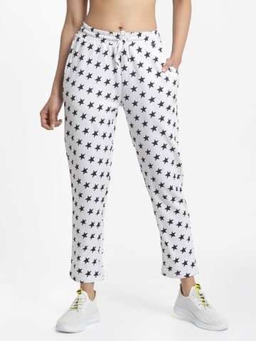 DOOR74 | DOOR74 WHITE STAR PRINT RELAXED FIT JOGGERS
